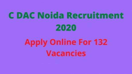 C DAC Recruitment 2020